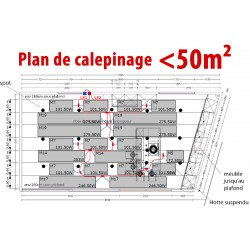 Plan de calepinage < 50 m²