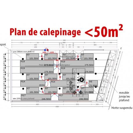 Plan de calepinage < 50 m²