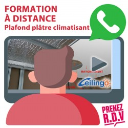 DISTANCE LEARNING CEILING PLASTER CLIMATISANTANT. Duration : 30 minutes