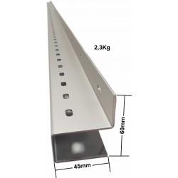 Profilé universel eClim en Z avec retour adhésivé - Longueur 3m - Matière AS1 20/10ème