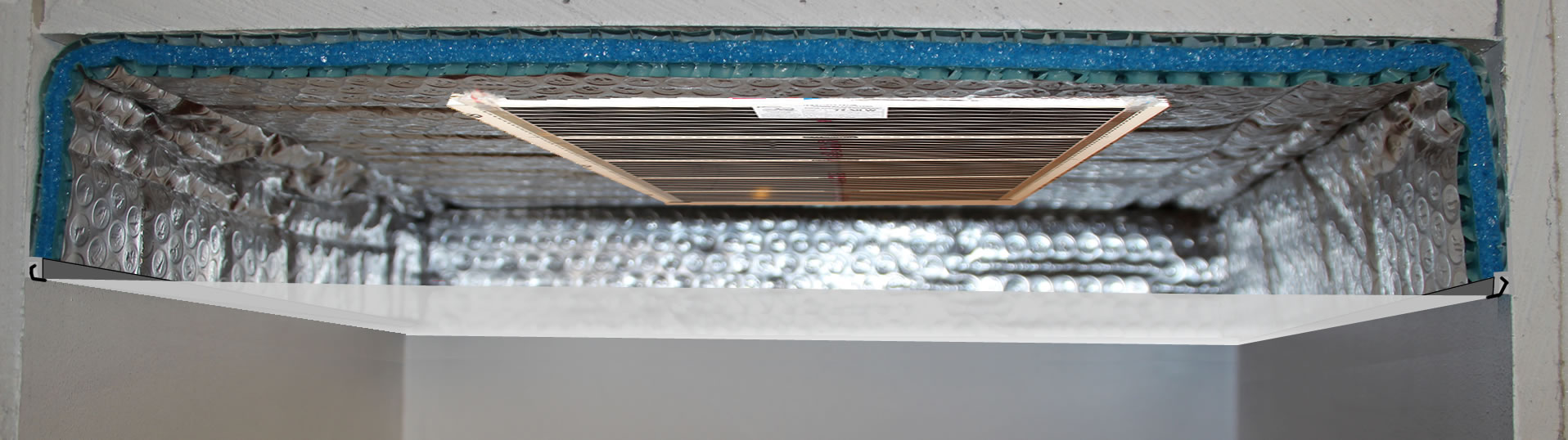 ePan Slim, panneau chauffant pour plafond tendu rayonnant
