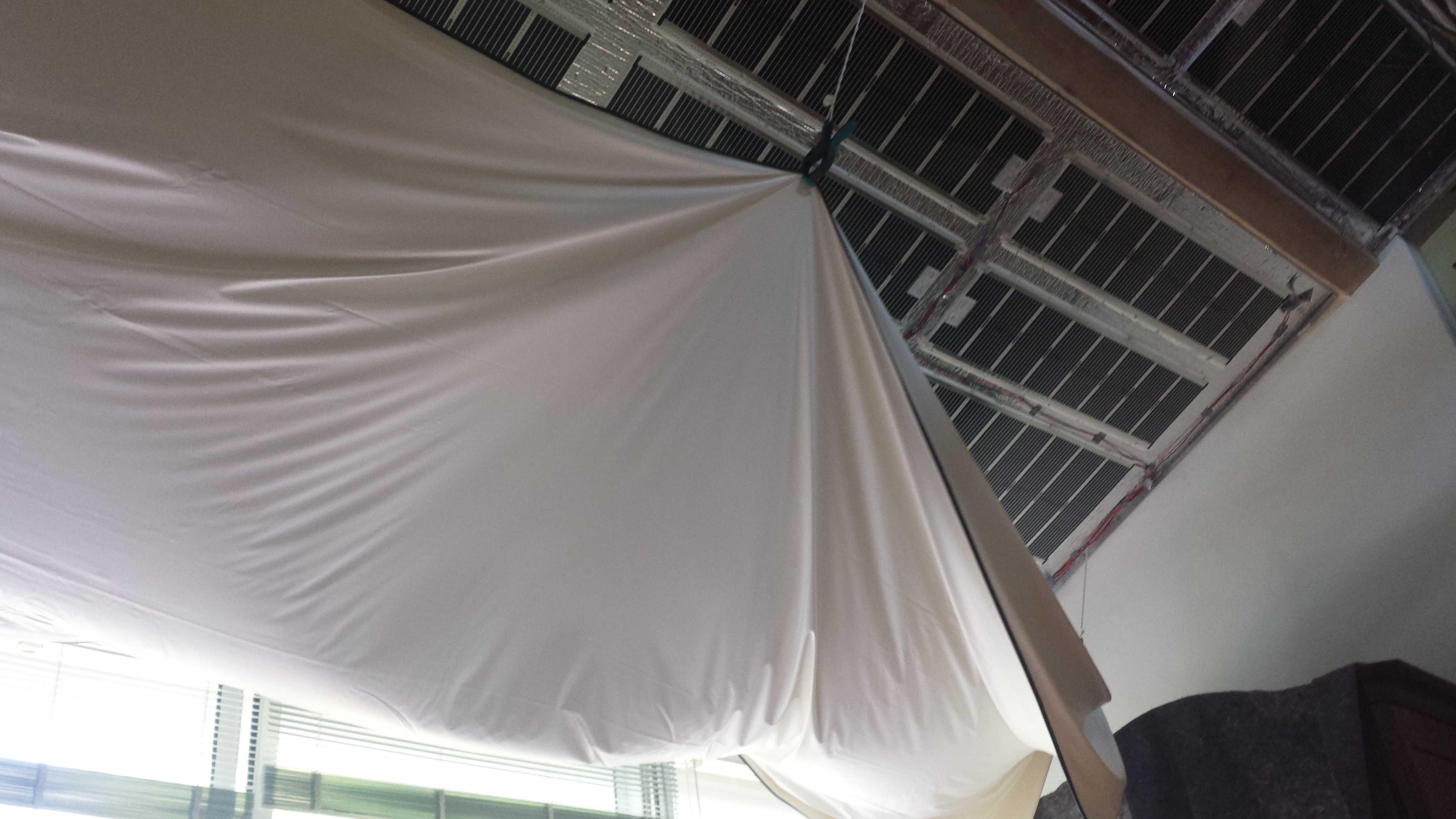 Plafond tendu chauffant