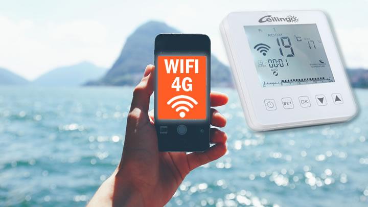 plafond chauffant domotique wifi et 4G