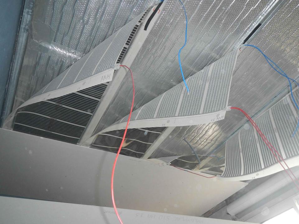 eFilm film chauffant plafond  rayonnant plâtre