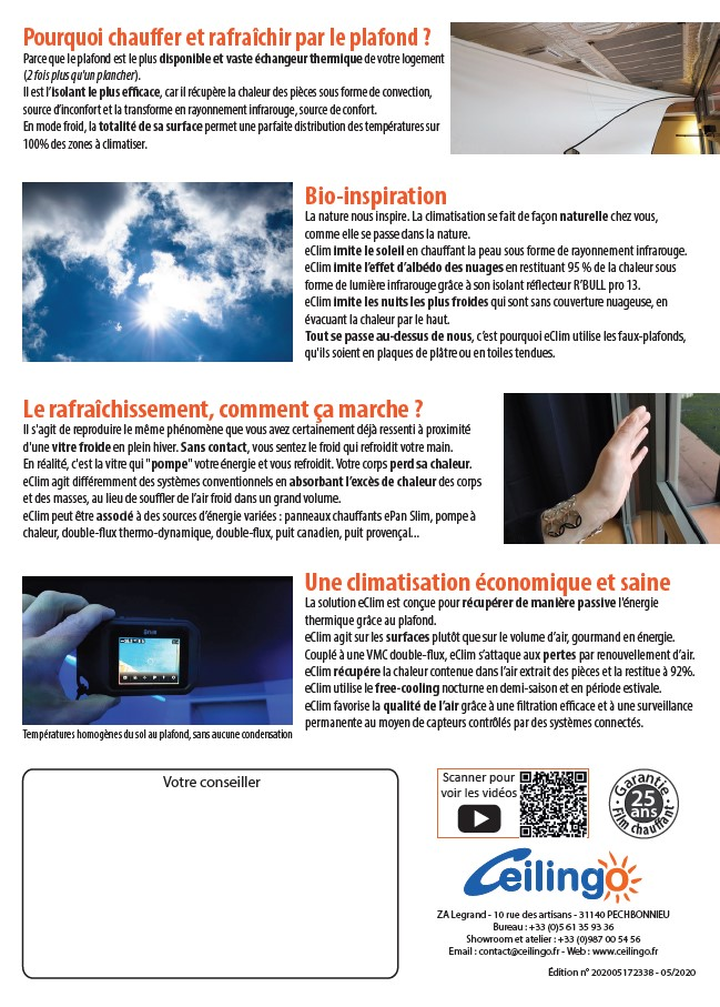 eClim documentation commerciale climatisation page 2
